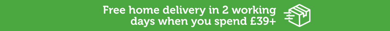Free standard delivery for orders over £39